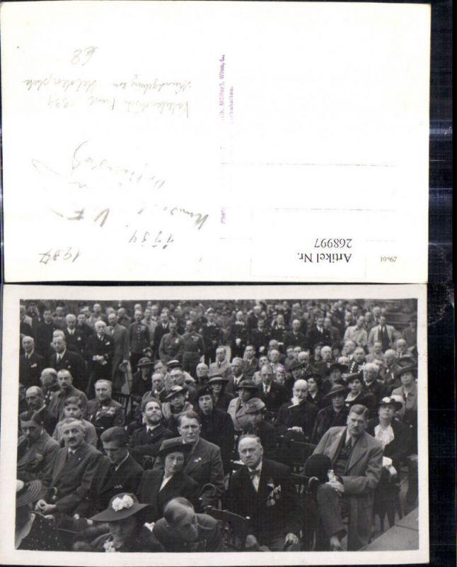 Foto Ak Dollfuss Kundgebung Heldenplatz Vaterländische Front 1934 Wien