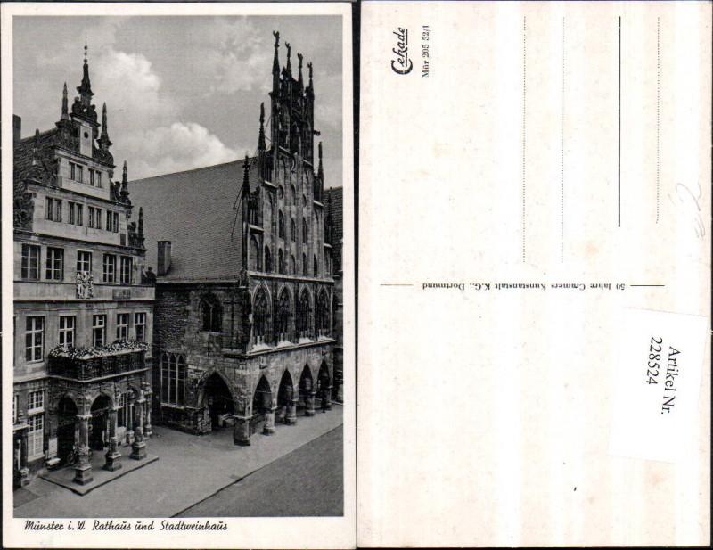 Münster i. Westfalen Rathaus u. Stadtweinhaus