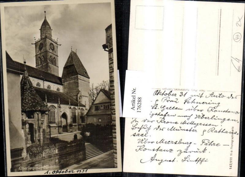 Überlingen Münster Ortsansicht Kirche