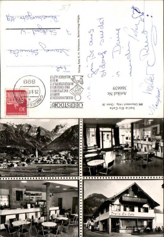 Oberstdorf im Allgäu Totale Italia-Eis-Cafe Mehrbildkarte