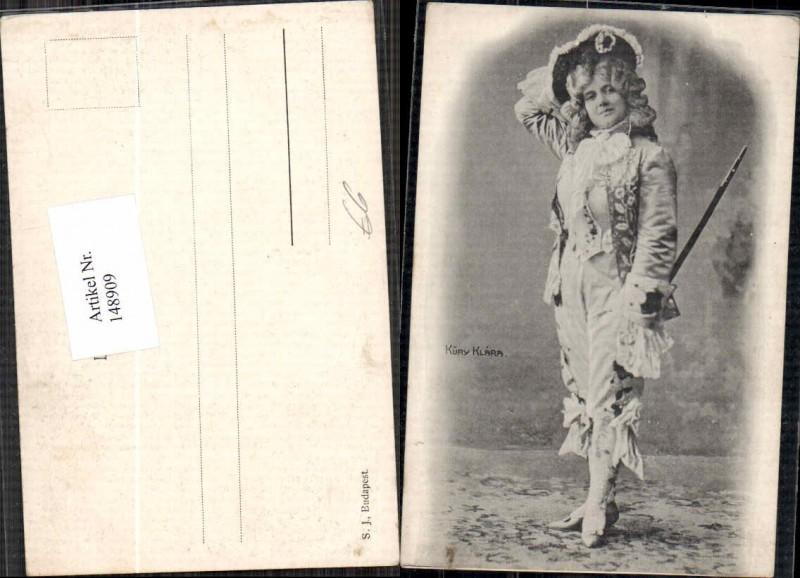 Küry Klara im Kostüm 1900
