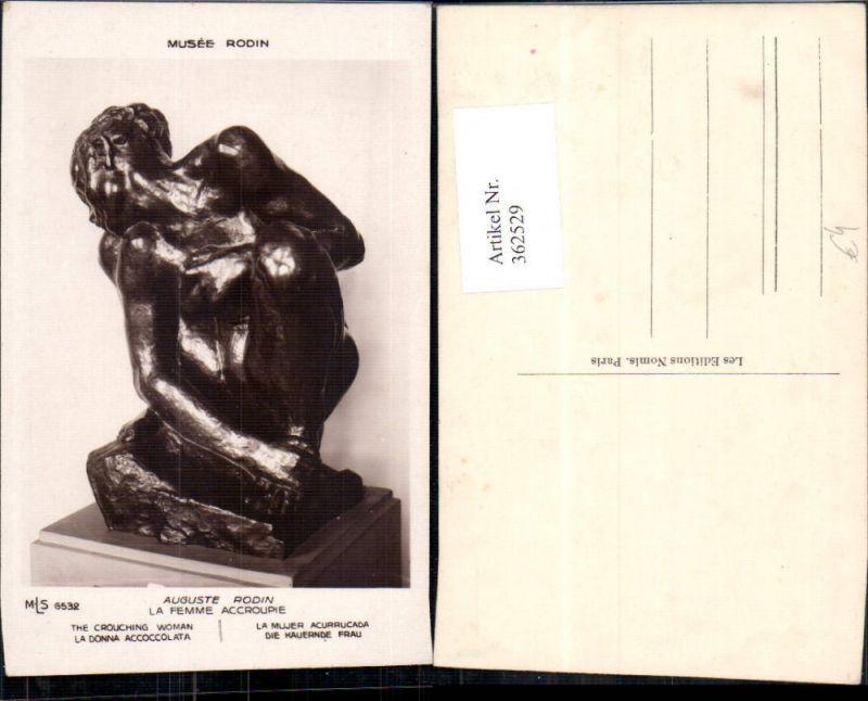 Künstler Ak Auguste Rodin La Femme Accroupie Statue