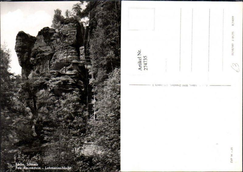 Sächsische Schweiz Fels Rauenstein Lehmannschlucht