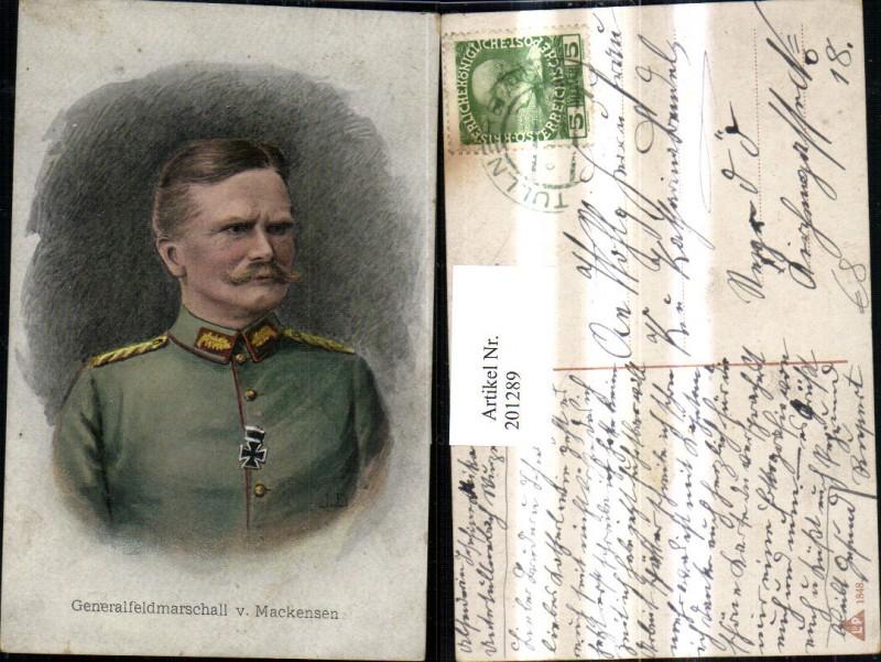 Generalfeldmarschall v. Mackensen Portrait Eisernes Kreuz