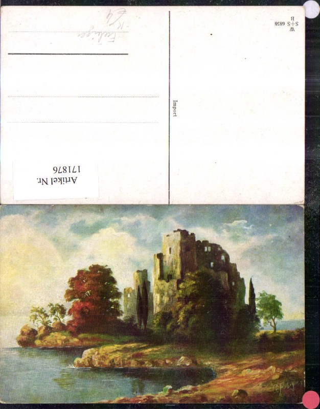 Künstler Ak Landschaft sign G. Fiebiger