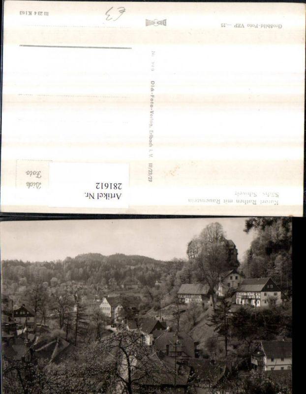 Sächsische Schweiz Rathen m. Rauenstein Teilansicht