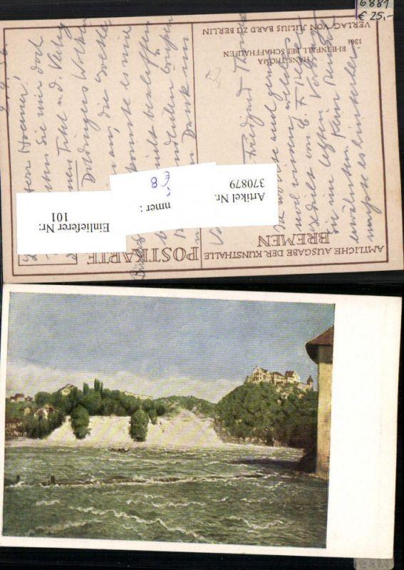 Künstler AK Hans Thoma Rheinfall Wasserfall b. Schaffhausen
