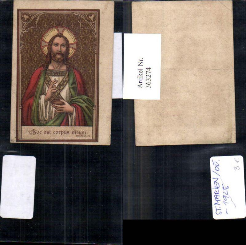Andachtsbild Heiligenbildchen Jesus m. Brot