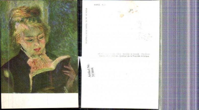 Künstler Ak Auguste Renoir Lesende Frau Lesen