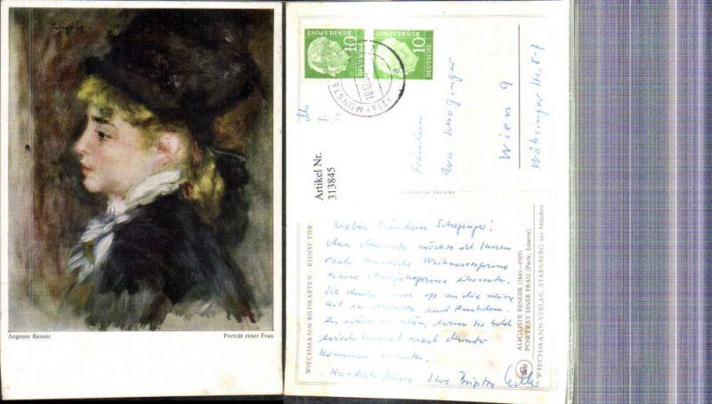 Künstler Ak Auguste Renoir Portrait einer Frau
