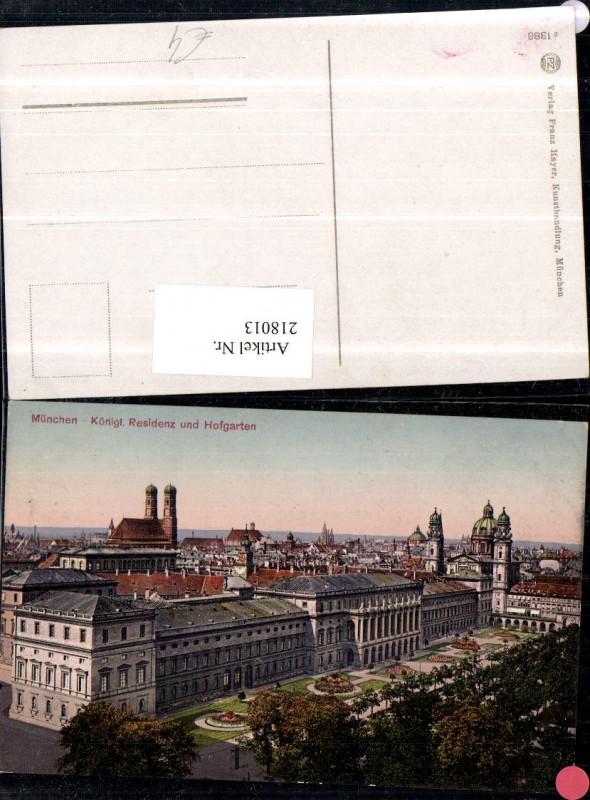 München Königliche Residenz u. Hofgarten