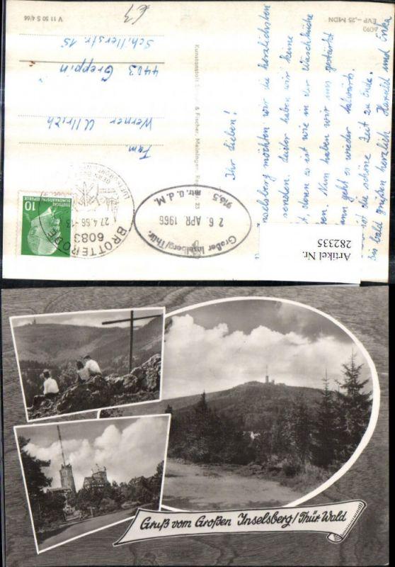 Gruß vom Großen Inselsberg Kreuz Aussichtsturm Mehrbildkarte