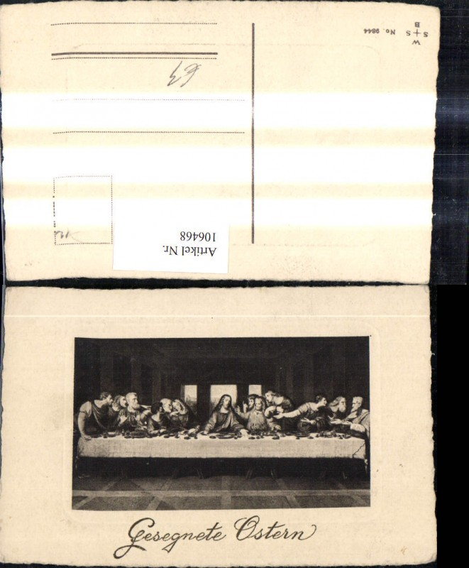 ak ansichtskarte leonardo da vinci cenacolo abendmahl jesus kat persoenlichkeiten nr kn65714. Black Bedroom Furniture Sets. Home Design Ideas