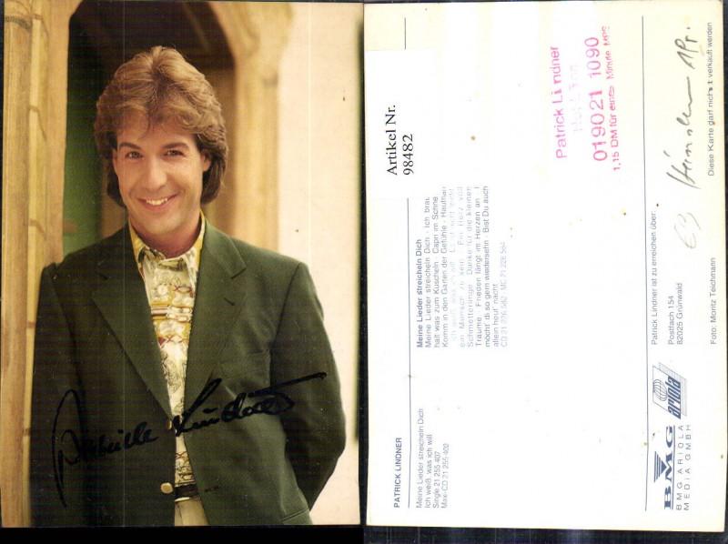 Patrick Lindner Sänger Autogramm Autogrammkarte