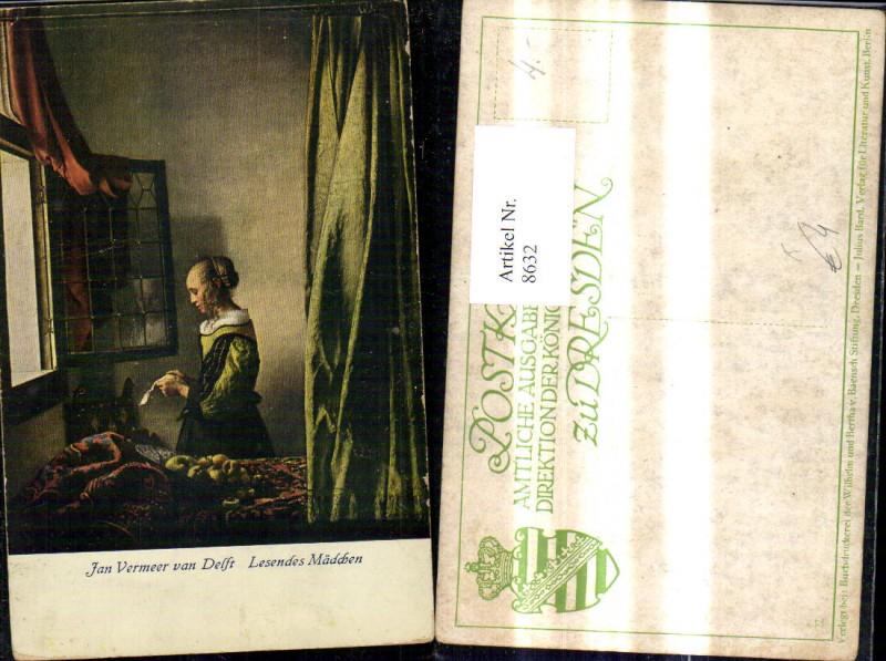 Künstler Ak Jan Vermeer van Delft Lesendes Mädchen