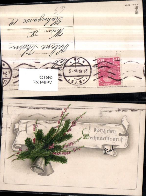 weihnachten kirche glocken tannenzweige 1906. Black Bedroom Furniture Sets. Home Design Ideas