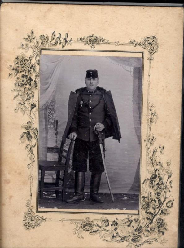 CDV K.k. Soldat Uniform Ordensspange Säbel pub Franz Kreiner Graz