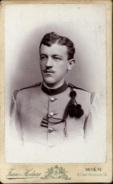 CDV K.k. Soldat Uniform Ordensspange pub Franz Hodura Wien Favoriten