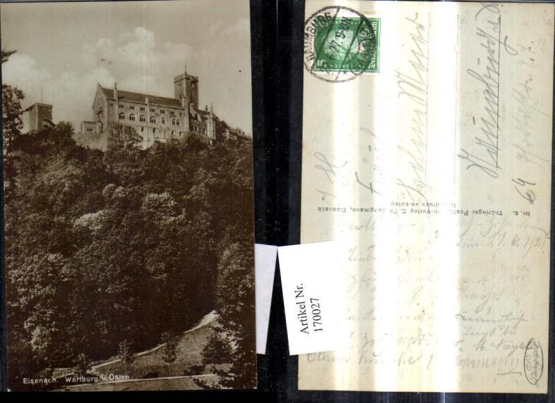 Eisenach Burg Schloss Wartburg v. Osten