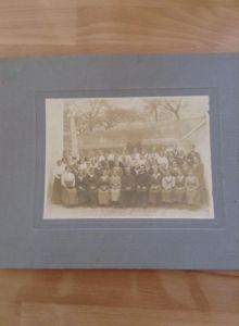 Grosses Foto Fest Maria Weinberger Ertl bei St. Peter in der Au 1907 Priester Fahne