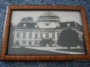 Rare FotoAK 1869 Wien Alsergrund Palais Pouthon + Rahmen Althangrund