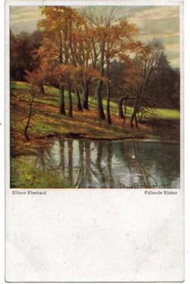 8886,Palette AK Nr. 107 E. Eberhard Fallende Blätter sign
