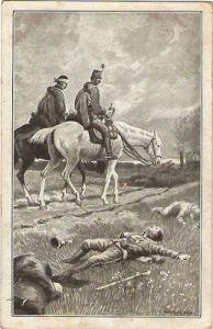 Soldaten Pferd gefallene Kameraden C. Benesch