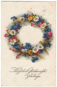 27703,Meissner & Buch 2527 Geburtstag Kranz Blumen
