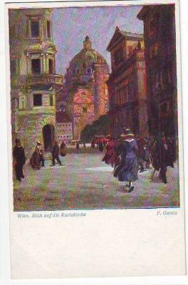 28592,B.K.W.I 846-5 Wien Karlskirche F. Gareis sign