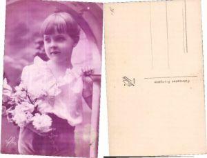 PRETTY FLOWER BEAUTY GIRL Photo Postcard