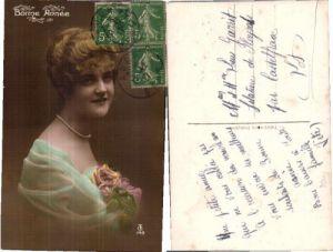 35885,PRETTY EDWARDIAN YOUNG LADY w. NECKLACE