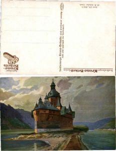 38713,WerbeAK Krone Brikett Caub sign. H.R. Schulze