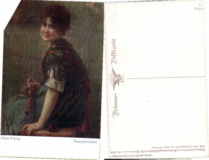 38714,Primus AK 3015 Hausmütterchen F. Wobring sign.