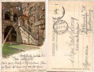 39188,Litho Firenze Bargello sign E Benda pub Meissner & Buch 1062
