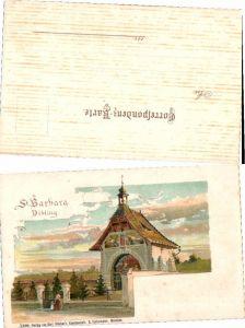 39978,Litho Gruß aus Wien Döbling sign E. Czech