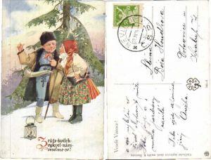 43664,Tschechische Kinder Trachten sign K. Simunek
