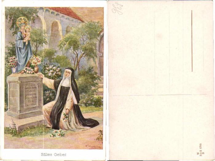 43674,Artist Pc Gebet F. Kaskeline Nun Nonne