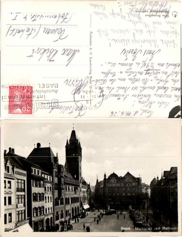 45782,Basel Marktplatz Rathaus