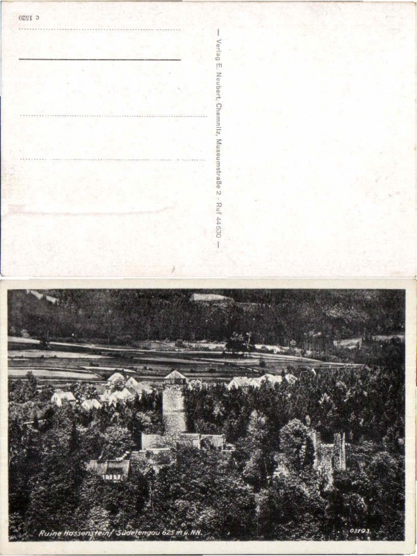 46143,Ruine Hassenstein Hasistejn b. Komotau
