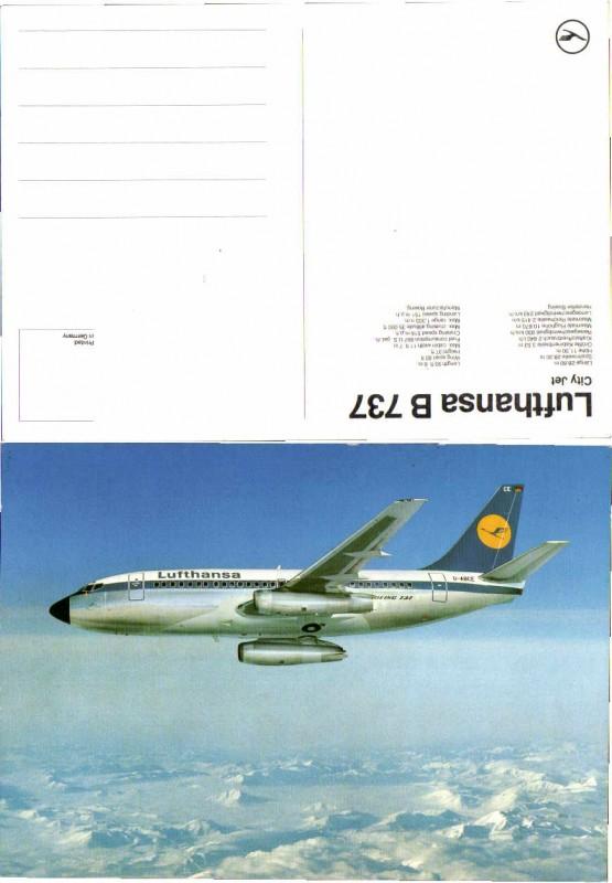 55865,Lufthansa Boeing 737 City Jet Flugzeug