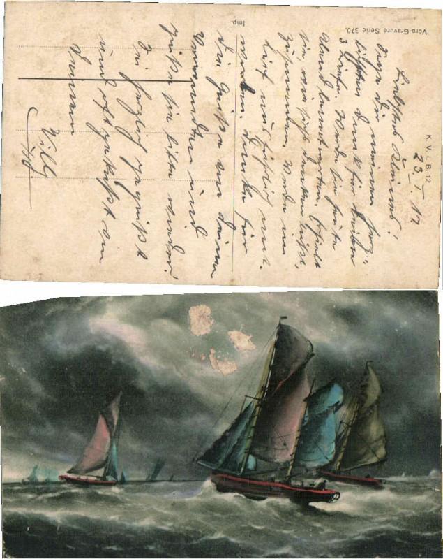 55924,Segelschiff Segler im Meer