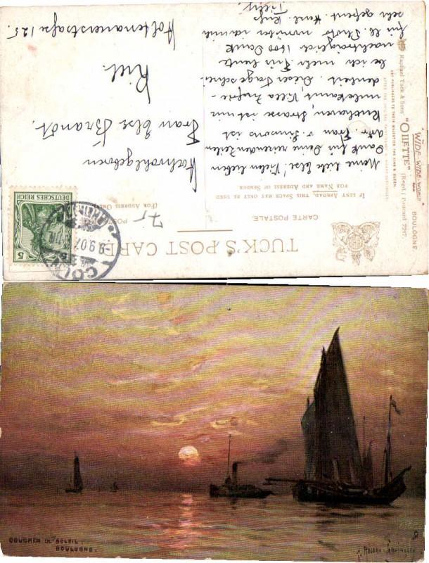 55926,Tuck 7217 Boulogne Segelschiffe Segler Cordingley