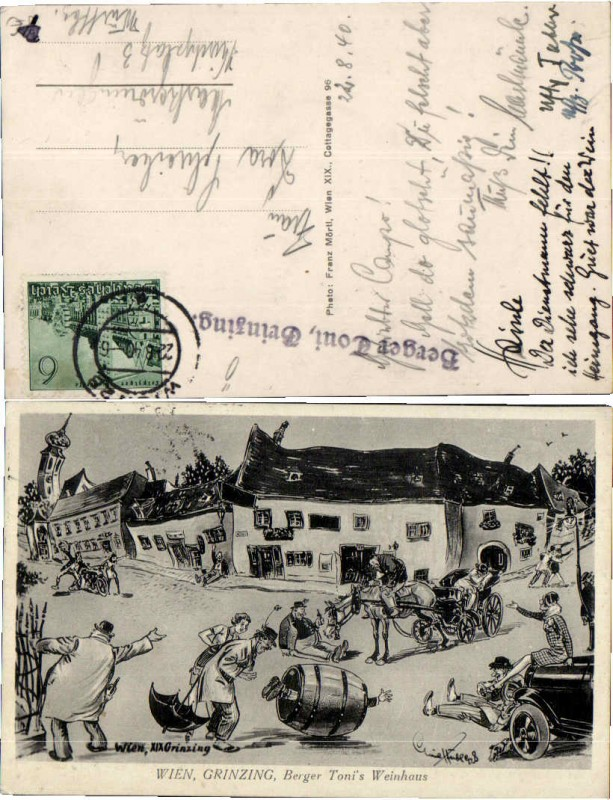 57159,Wien Grinzing Berger Tonis Weinhaus Juxkarte