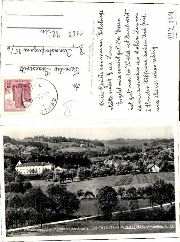 57354,Zeillern bei Amstetten Ortsansicht m. Heim