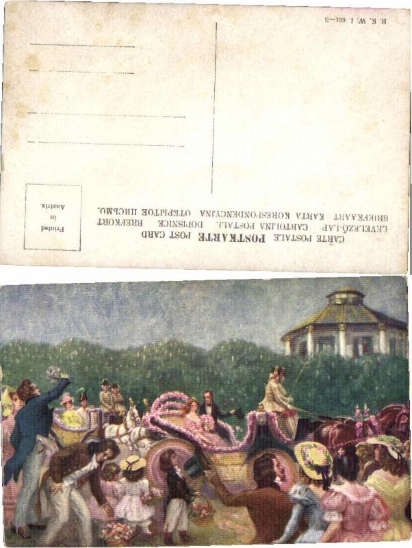 57930,E. A. Dussek Kutsche Jugendstil B.K.W.I. 661-3