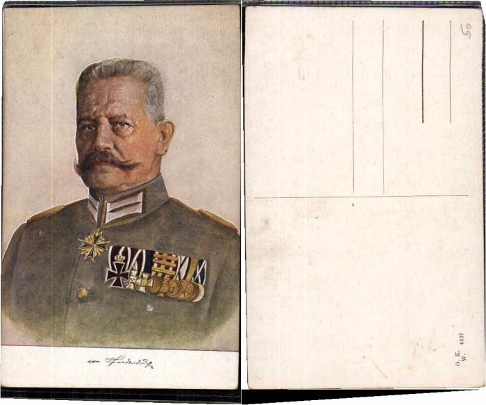 61810,Hindenburg mit Orden Eisernes Kreuz
