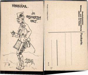 61836,WW1 Karikatur Rudi Kristen 56 Karriere gesicherten Halt