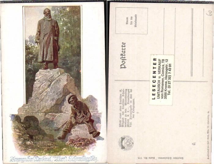 62883,Dt Schulverein 772 Wien Anzengruber Denkmal E. Reckziegel