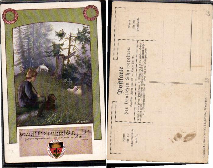 62884,Dt Schulverein 98 Deutsche Lieder 19 T. Welzl sign.