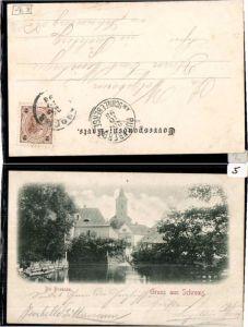 64386,Gruss aus Schrems Partie a. Braunau 1897